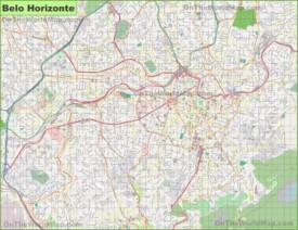 Large detailed map of Belo Horizonte