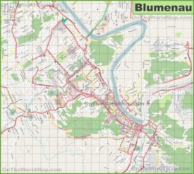 Large detailed map of Blumenau