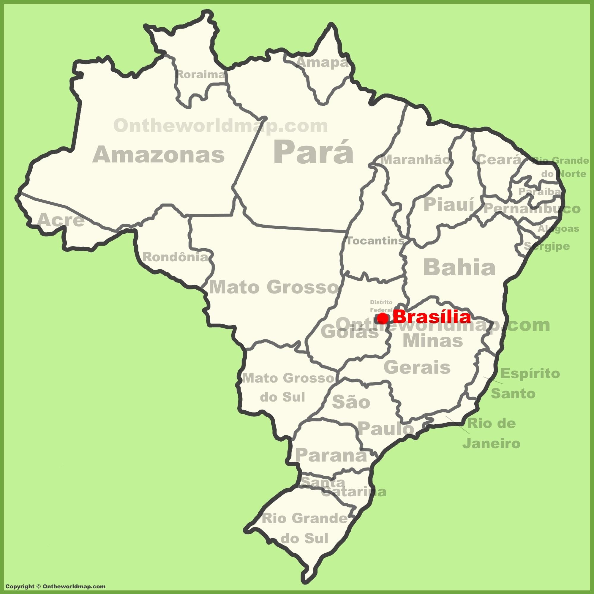 Brasilia Brazil Map Brasilia Maps | Brazil | Maps of Brasilia (Brasília) City