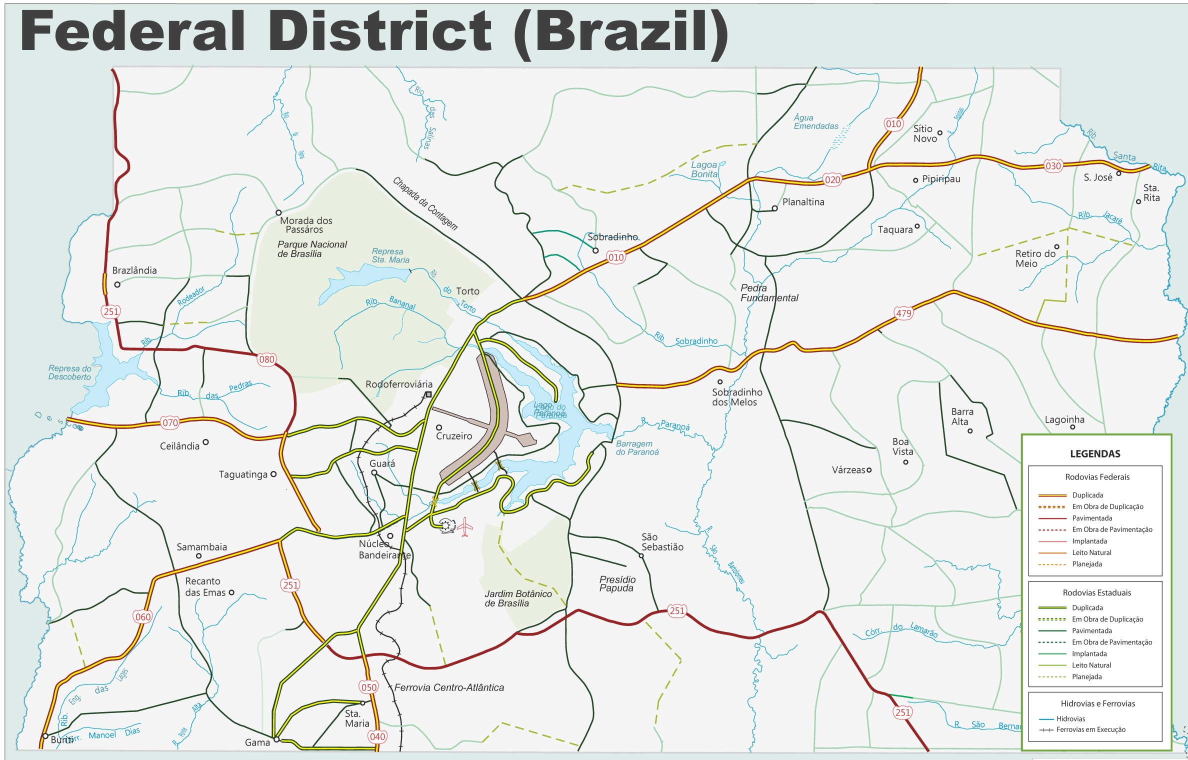 Federal District road map