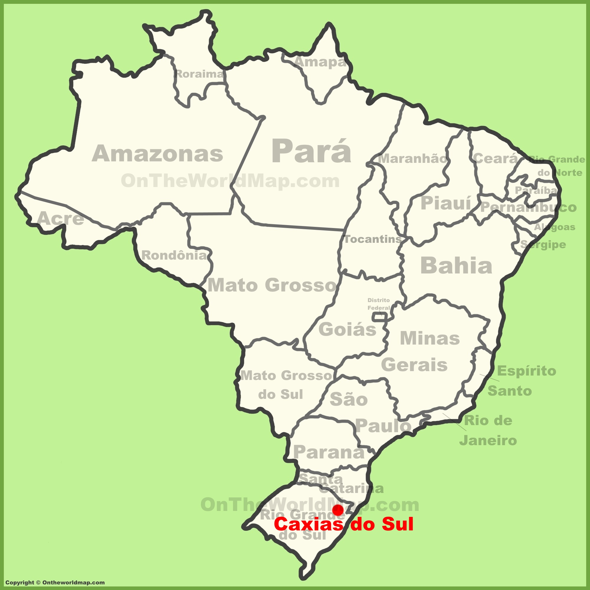 Caxias do Sul location on the Brazil map