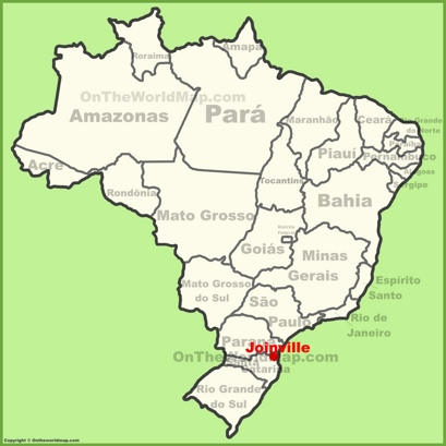 Joinville Location Map