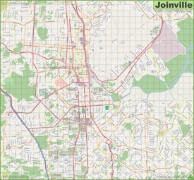 Large detailed map of Joinville