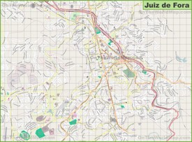 Large detailed map of Juiz de Fora