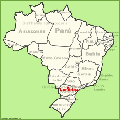 Londrina Location Map