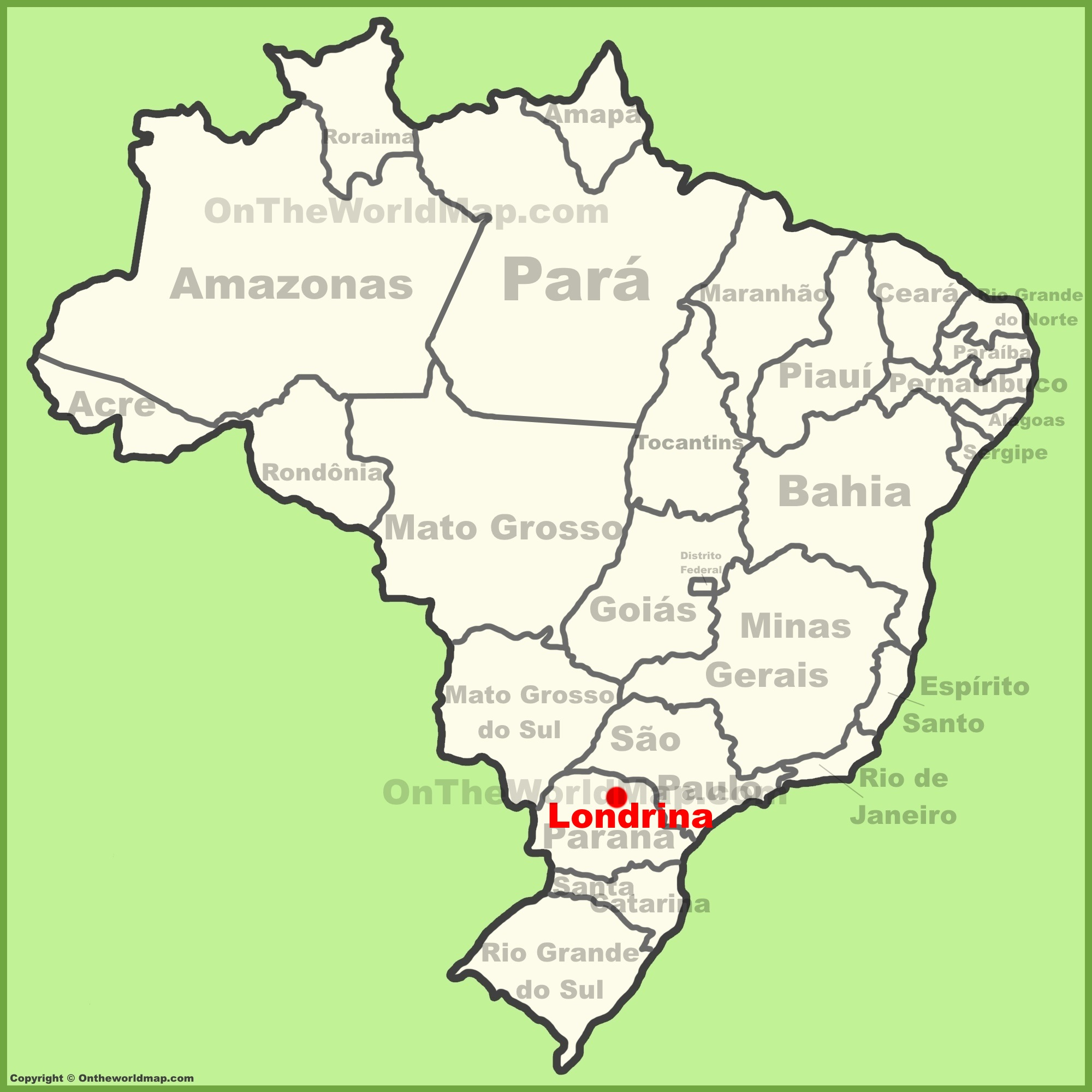 Londrina location on the Brazil map