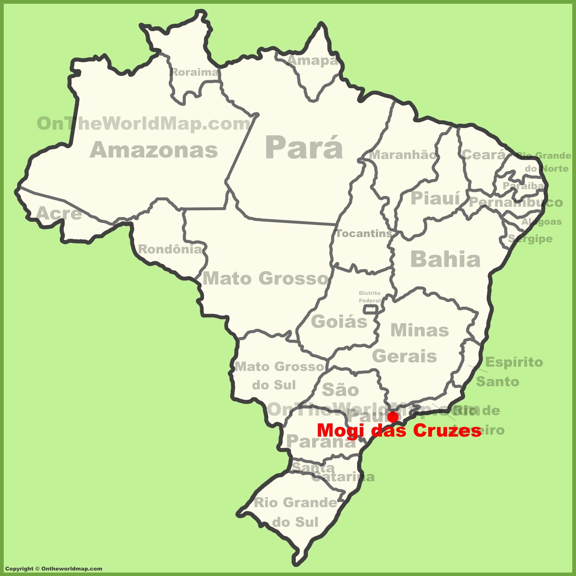 Mogi das Cruzes Maps Brazil Maps of Mogi das Cruzes