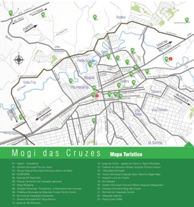 Mogi das Cruzes tourist map