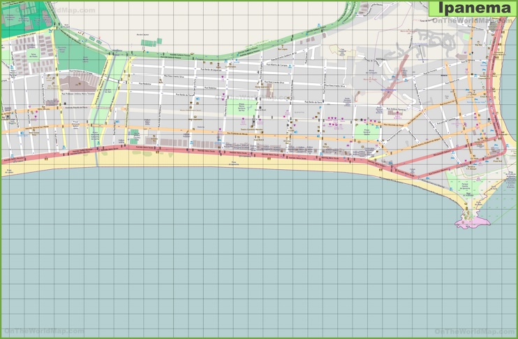 Ipanema map