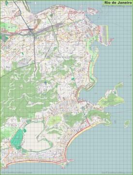Large detailed map of Rio de Janeiro