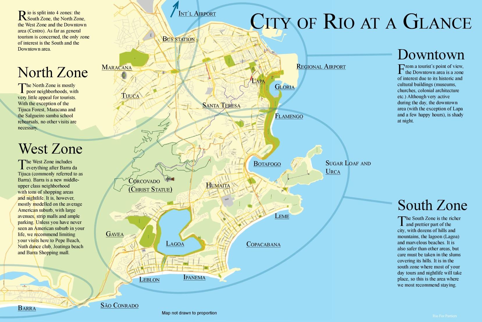 Rio De Janeiro Map Map of Rio de Janeiro neighborhoods Rio De Janeiro Map