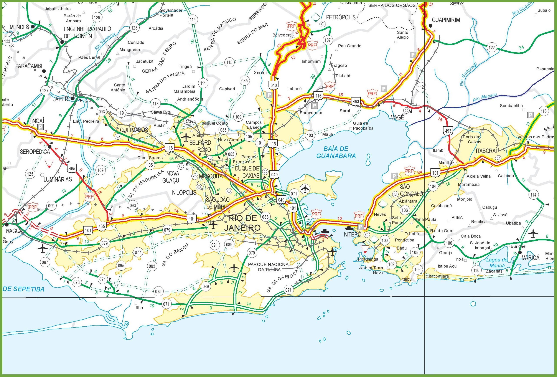 Rio de Janeiro road map