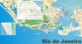 Rio de Janeiro tourist map