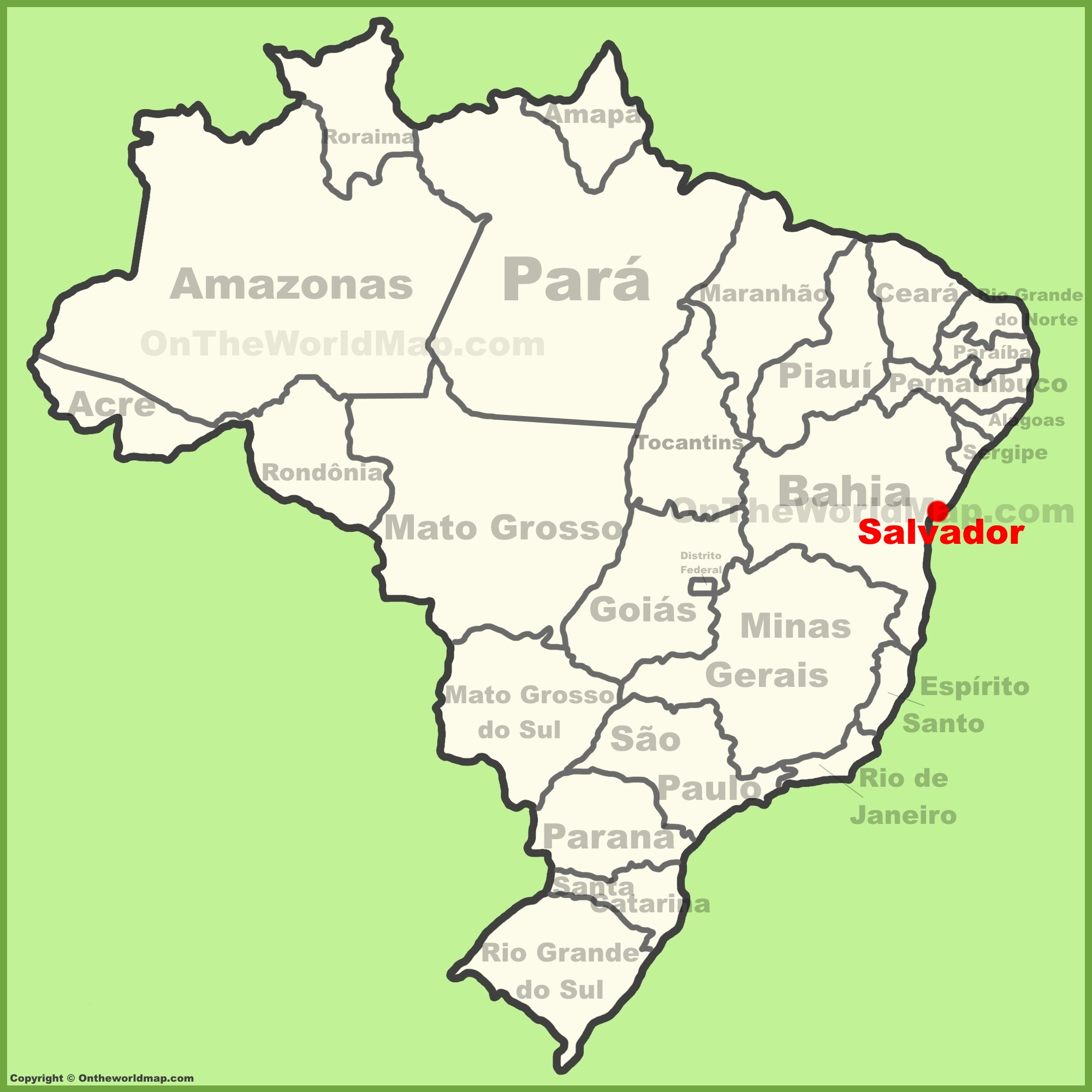 salvador bahia brazil map Salvador Location On The Brazil Map salvador bahia brazil map