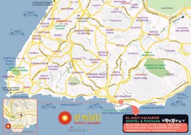 Salvador roads and beaches map