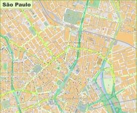 Large detailed map of São Paulo
