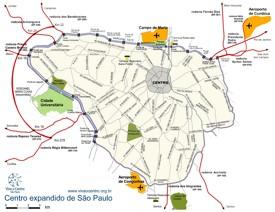 São Paulo airports map