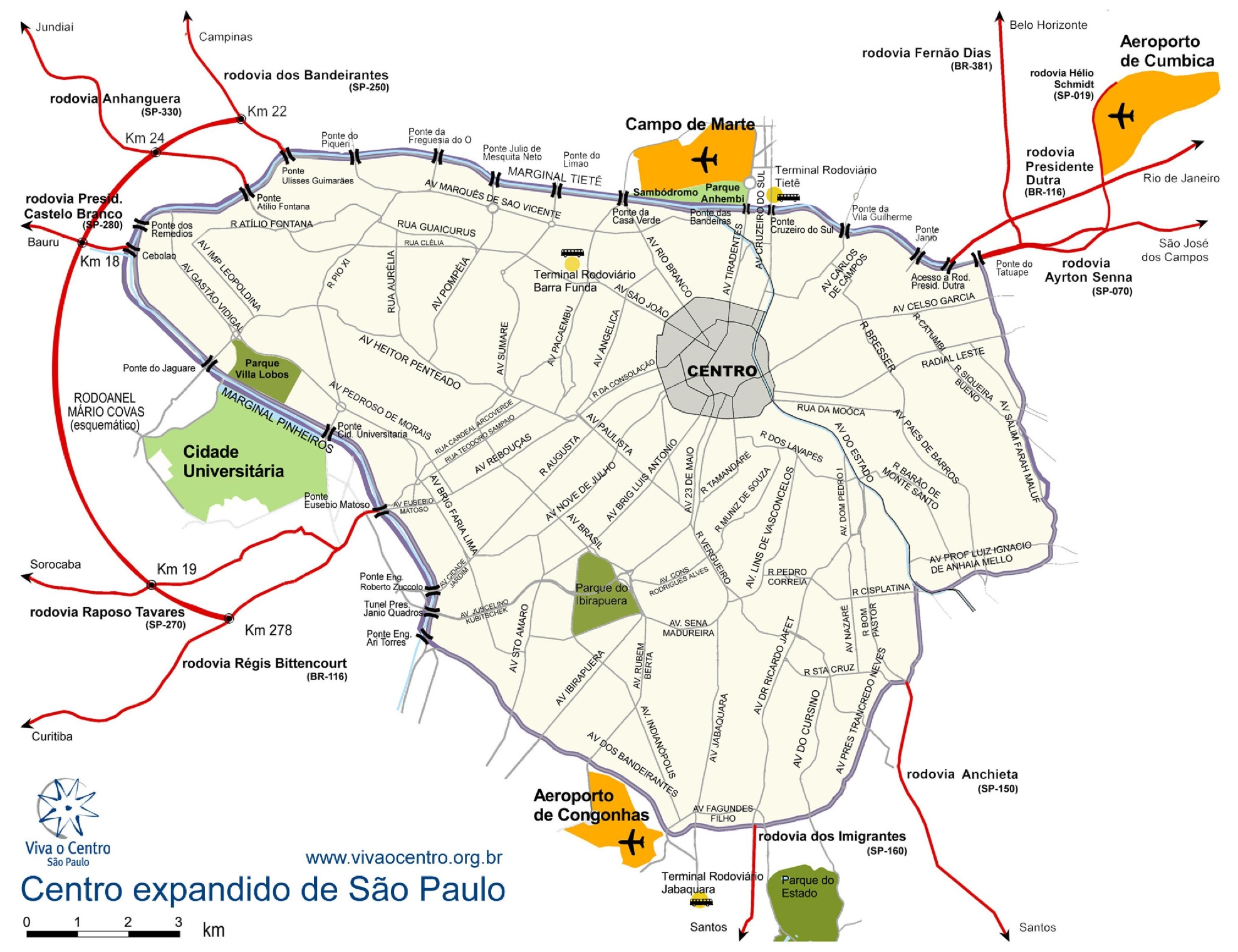 So Paulo airports map