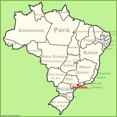 São Paulo Location Map