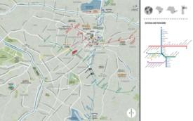 São Paulo tourist metro map