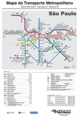 São Paulo transport map