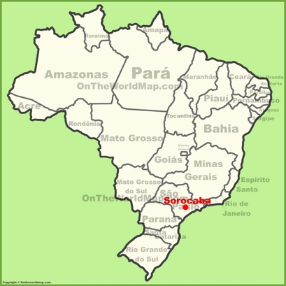 Sorocaba Location Map