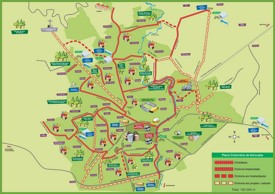 Sorocaba tourist map