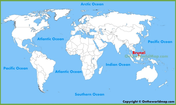 Brunei location on the World Map