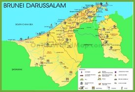 Brunei tourist map
