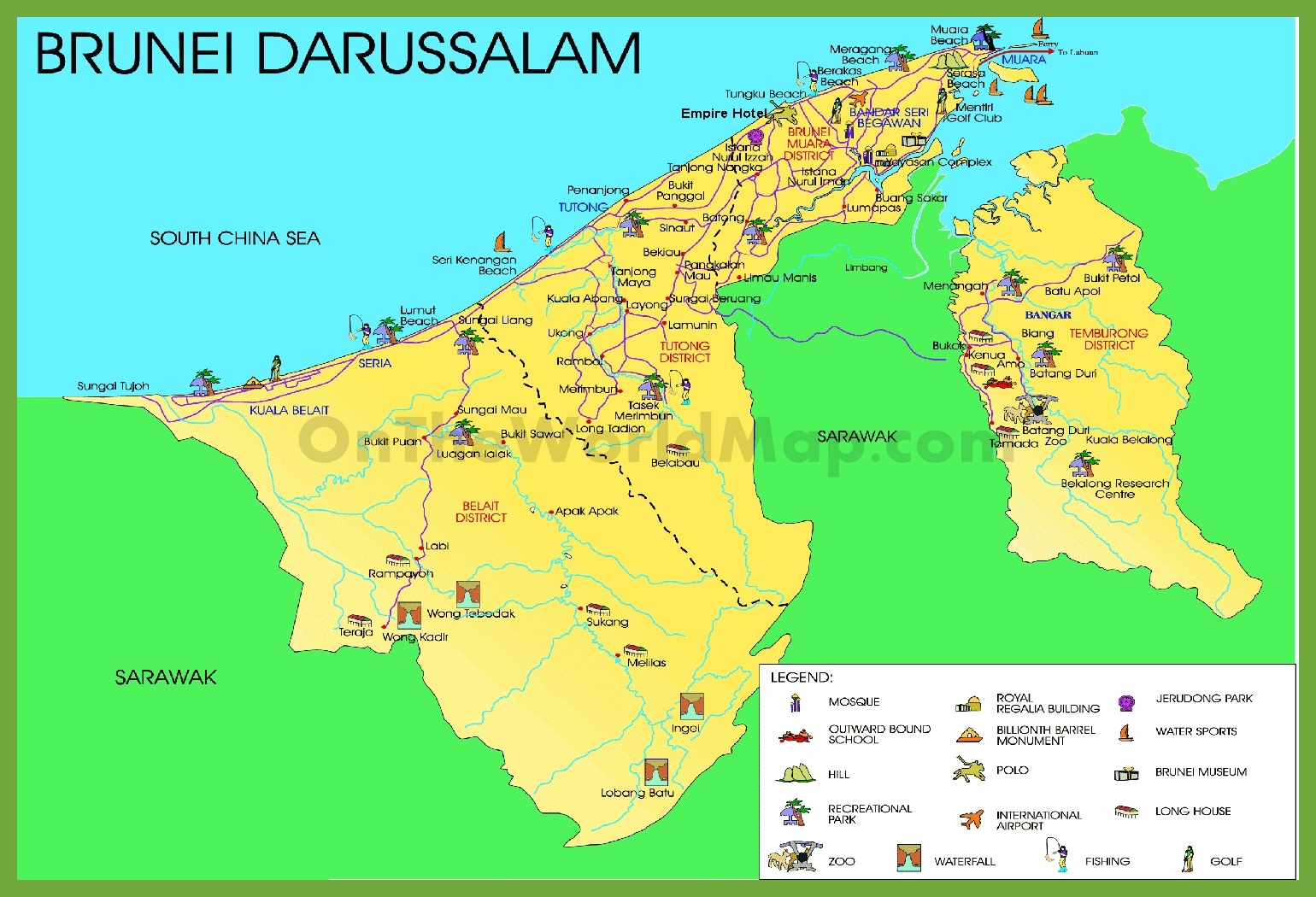 Brunei Maps Maps of Brunei Darussalam