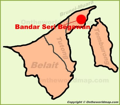 Bandar Seri Begawan Location Map