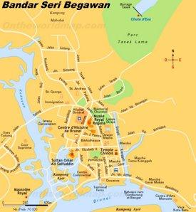 Bandar Seri Begawan sightseeing map