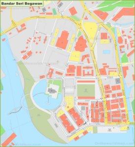 Large detailed map of Bandar Seri Begawan
