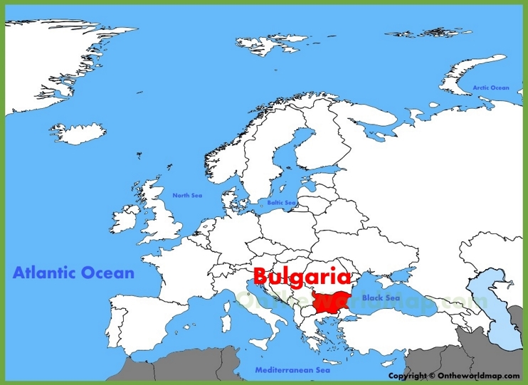 Bulgaria location on the Europe map