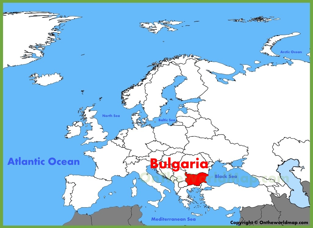 Bulgaria On Map Of World.Bulgaria Location On The Europe Map
