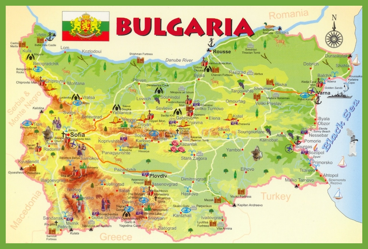 Map Of Bulgaria Bulgaria tourist map Map Of Bulgaria