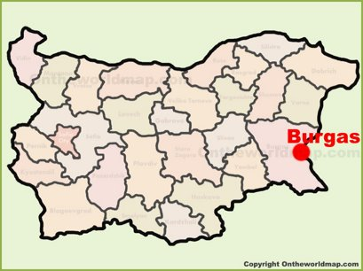 Burgas Location Map