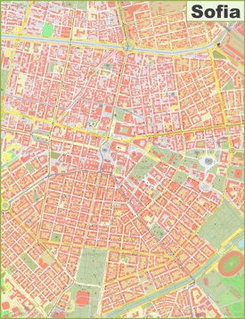 Sofia city center map
