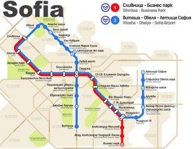 Sofia metro map