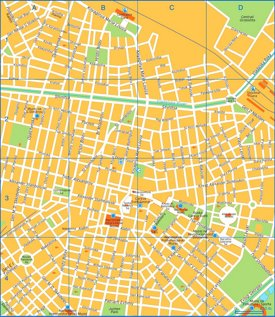 Sofia sightseeing map