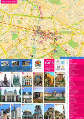 Sofia tourist map