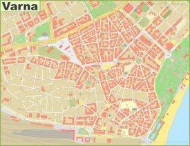 Varna city center map