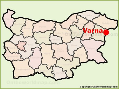 Varna Location Map