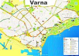 Varna tourist map