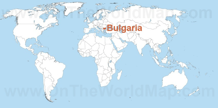Bulgaria on the World Map Bulgaria on the Europe Map