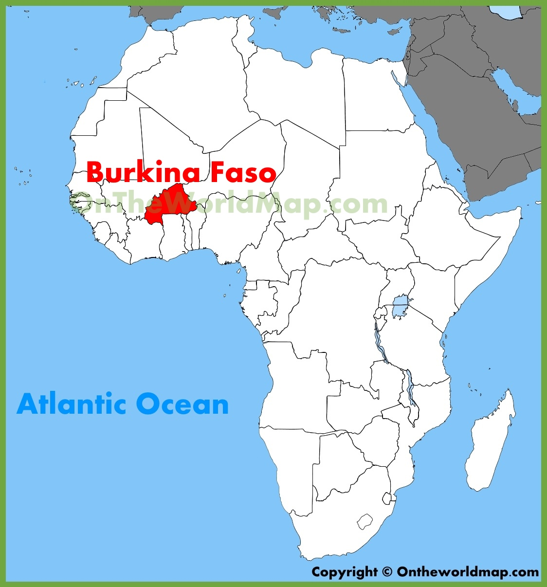 Where Is Burkina Faso On The Map Burkina Faso location on the Africa map
