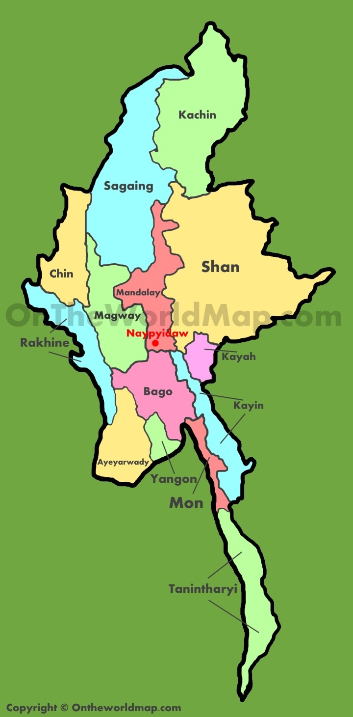 Map Burma giogle maps