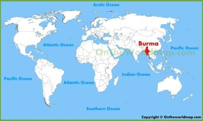 Burma Location Map