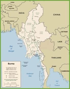 Burma Maps Maps Of Burma Myanmar - Map of burma