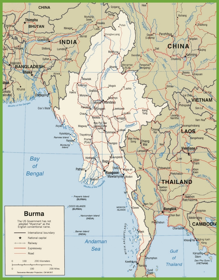 Burma road map